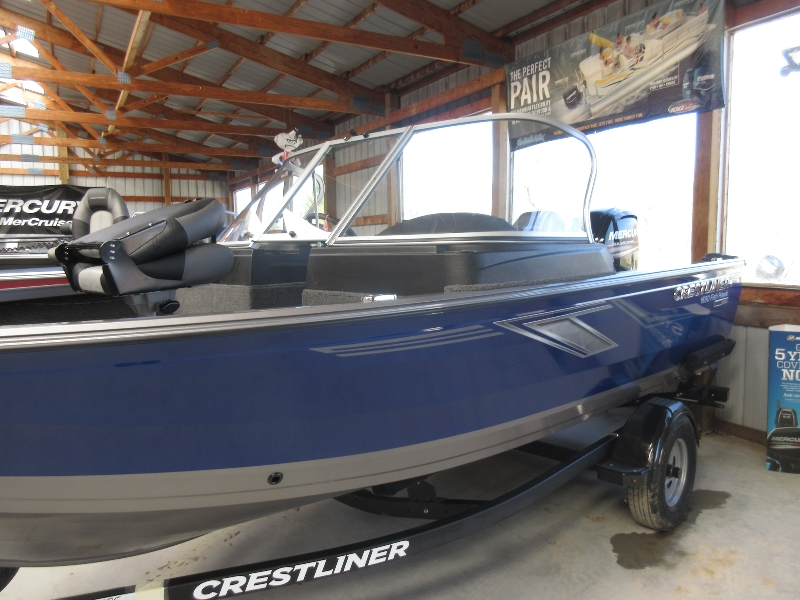 2019 Crestliner 1650 Fish Hawk WT Jump Seats