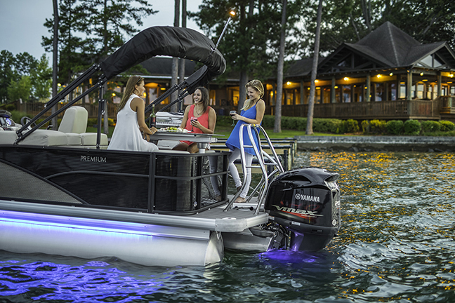 Godfrey Sweetwater & Aqua Patio Pontoons